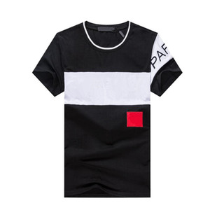 2020 Nouvelle vente chaude T-shirt Hommes ShortSleeve Stretch Coton Jersey Tee Broderie Homme Tiger Imprimé oiseau Équipe Collier T-shirt # 3615