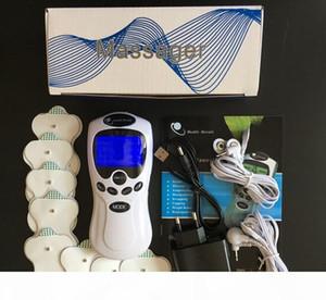 Tens EMS Unit 듀얼 채널 출력 통증 완화 전기 신경 근육 자극 디지털 치료 마사지 물리 치료 상자