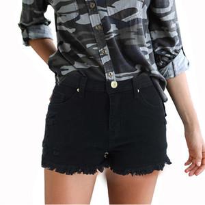 Yeni Varış Bahar ve Yaz Yeni Yırtık Fringe Kot Bayan Katı Renk Şort Kadınlar için Sıcak Pantolon Size S-2XL