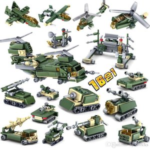 Education Tank Army Military Bricks Assemble Car Building Troops Sets DIY Armored Helicopter Aircraft Model 03 Figures Kids Toys Blocks Hsbn