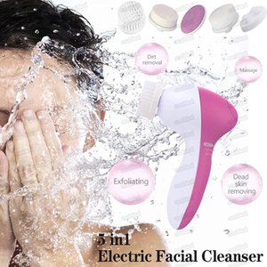 Electric Facial Scrubbers Cleaner 5 In 1 cleanser Cleaning Brush Skin Care Tool Beauty Care Massager home massor Free DHL