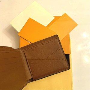 Top Quality Paris Plaid Style Style Mens Portafoglio Fashion Uomini Borsa Speciale Canvas multiplo Breve piccolo portafoglio Bifold con scatola N60895