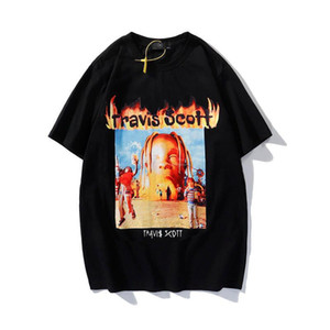 Europäisches und amerikanisches Hip-Hop-Alphabet gedruckt cooles Top-Paar-beiläufiges lockeres Mode-Marke Herren- und Frauen-vielseitiges T-Shirt