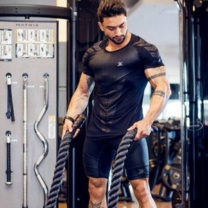BULKING Quick Dry Compression Men's Short Sleeve T-Shirts Running Shirt Fitness Tight Tennis Soccer Jersey Gym Demix Sportswear