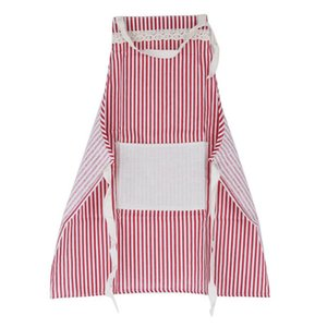 Oil-proof cotton and linen half-length apron Nordic kitchen simple housework apron advertising work