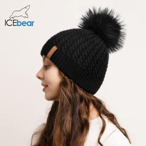 İcebear Kadın Beanie Hat Kış Şapka Örme Ponpon Şapka Kadın Kış Cap FX-HTWL002
