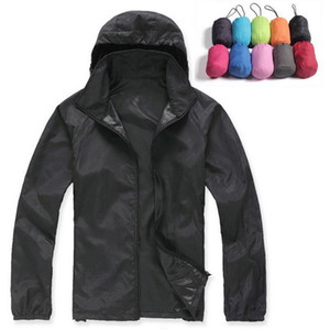 Lovers Sun Protection Skin Summer Jacket Women Men Spring Fashion Female Coats Women's Foldable Hooded Jackets,AM034