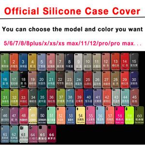 Neue offizielle Silikon-Case-Abdeckung für I 6 7 8 Plus X XR XS 11 11PRO 12 PRO ... Max mit Retail-Box