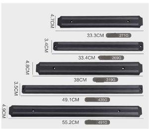 Porte-couteau magnétique en acier inoxydable Silicone Wall Racks Home Shelf Tablette pratique Outils pratiques Noirs 8 4FY L2