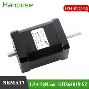 17HS6401S-SZ NEMA17 Step Motor 42 Motor Çift Mil CNC Lazer 3D Yazıcı Için Yeni 12 V 42bygh 1.7a 70n.cm için 3D Yazıcı