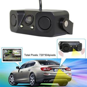 OMESHIN Night Vision camera monitor 2LED Car Rear View Camera with Radar Parking Sensor waterproof and shockproof radar sensor