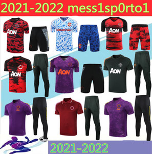 2021 Mancheste Polo Chemise à manches courtes Pantalons Pogba Soccer Training Former 20/21 3/4 Rashford Lukaku Man Football Polo Shirts Tracksuit