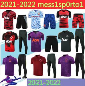 2021 Mancheste Polo Kısa Kollu Gömlek Pantolon Pogba Futbol Eğitim Takım 20/21 3/4 Rashford Lukaku Adam Futbol Polo Gömlek Eşofman