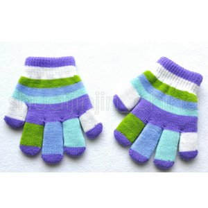 Children Magic Gloves Fashion Kids Warm Wnter Rainbow Stretchy Lovely Girl Colored Double Layer knitted Gloves YYS2858