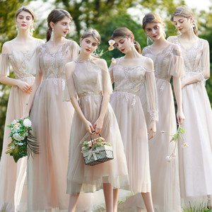 Goddess temperament bridesmaid dress 2020 new sister group special slim banquet host evening dress