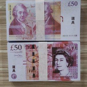 50 vendas UK Filme hot money copiar papel das notas Prop 100pcs prop dinheiro libra / pack