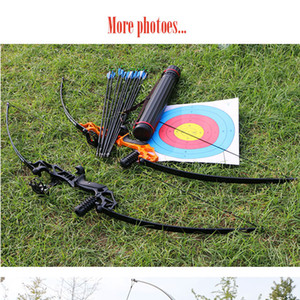 40lbs Archery Bow Hunting Straight Longbow for Outdoor Practice Target Shooting Fishing Sport Games Slingshot Tade Down Long Bow