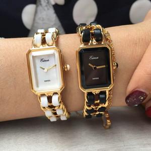 새로운 도착 골드 시계 여성 드레스 드레스 시계 패션 패션 레이디 팔찌 쿼츠 손목 시계 레이디 선물을위한 럭셔리 스테인레스 스틸 체인