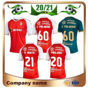 20/21 SC BRAGA Soccer Jersey 2021 Sporting Clube de Braga Paulinho R.horta J.Palhinha Shirt Galeno Abel Ruiz BNICO GAITÁN Uniformi di calcio