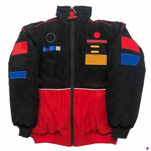 F1 racing suit long-sleeved retro motorcycle jacket trendy motorcycle suit team service auto repair winter cotton suit