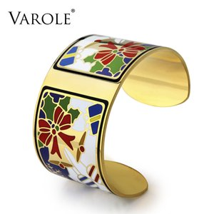 VAROLE Christmas Enamel Has Free Gift Jewelry Box Love Bangle Bracelets & Bangles Pulseiras Women Fashion Jewelry pulseiras