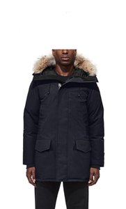Mens Down Jacket Veste Homme Outdoor Winter Jassen Outerwear Big Fur Hooded Fourrure Manteau Down Jacket Coat Hiver Parka Canada Doudoune