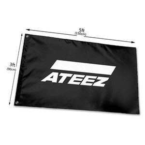 Ateez Kq Entertainment Boys Group Korean Flag 3x5ft 100D Polyester Outdoor or Indoor Club Digital printing Banner and Flags Wholesale