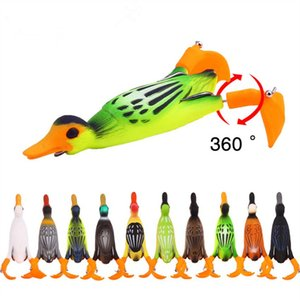 1 PCS Propeller flipper duck Fishing Lure Ducking Fishing Frog Lure 9.5cm 11.2gArtificial Bait Duckling 3D Eyes Day Baits Bass