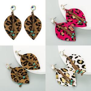 Leichte Leopard Leder Ohrringe Mode Böhmen Baumeln Ohrringe Handgemachte Teardrop Ohrring Für Frauen Erklärung Schmuck Geschenk
