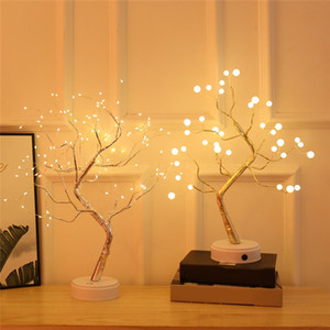LED Night Light Mini Christmas Tree Lamp Tabletop Bonsai lighting with 36LEDs 108LEDs for Bedroom Desktop Decoration Night Light