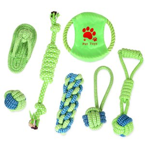 Dog Cotton Rope Knot Toys Pet Supplies Cat Puppy Cotton Weaved Chews Knots Toy Durable Braided Bone Rope Funny Tool Kimter-C19FZ