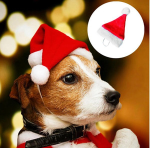 1pcs Dog Santa Hat Cute Birthday Party Adjustable Cone Hat for Dog Cat Small Pets New Year Christmas Decoration Cap Headgear