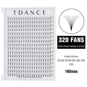 320 Fans lashes 16 Lines Premade Volume Fans 5D 6D 7D 8D 9D 10D 12D Eyelash Pro Point Middle Stem Faux Mink Eyelash Extensions