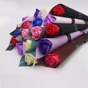 Fleur artificielle rose 14 styles savon fleur Valentine Jour de la Saint-Valentin Jeux de cadeaux de Noël pour femmes Décoration de mariage DHF3493