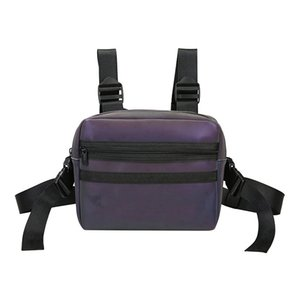 NEW Rainbow Reflective Chest Bag Multifunctional Vest Style Men Women Chest Bag Z1121