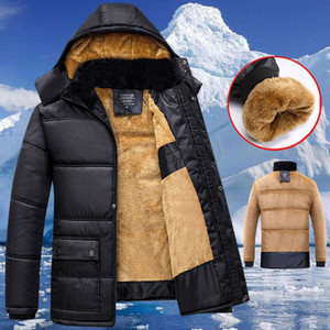 2020 New Men Winter Jacket Coats Quality Men's Winter Thickening Cotton Coat Cold-proof Thermal Hooded Long-sleeve Jacket #3 Y1112