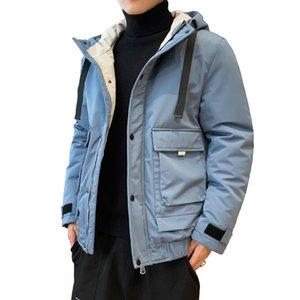 Anbican Мужская мода Зимняя куртка 2019 Brand New с капюшоном Ветровка Parka пальто Мужчины Толстые Теплая зима ветровки Y1112