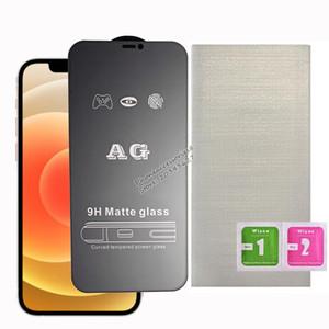 AG Matte Cover Full Cover Pellicola Proteggi in vetro temperato per iPhone 12 Mini Pro Max iPhone 11 XR XS max 7 8 6 Plus