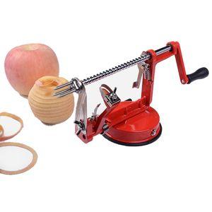 3 em 1 aço de fruta de aço maçã máquina de peeler cortador cortador de cortador de cortador de mão-escrupuloso