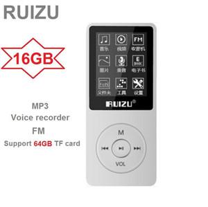 RUIZU X02 Ultrathin MP3 Player USB 8GB Support 64GB TF Card 1.8 Inch Screen Play 80h Radio FM Music Player Voice Recorder