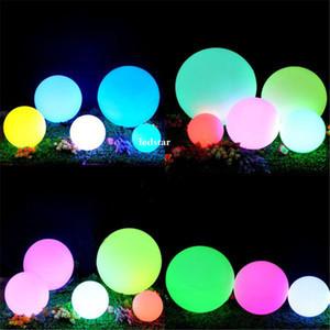 7 색 RGB LED 부동 매직 공 LED 조명 된 수영장 공 빛 IP68 야외 가구 바 테이블 램프 원격