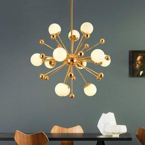 Nordic Art Postmodern Molecular Lamp Creative Personality Wooden Dining Room European Led Chandelier Living Room Bedroom Light I16