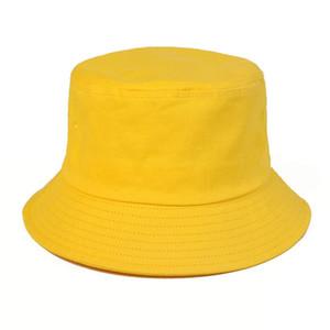 Модный дизайнер буквенный ковш шляпа для мужских женских складных колпачков темно-голубого рыбака солнцезащитный козырек Стинго Breim Hats Складная дама Bowler Caper