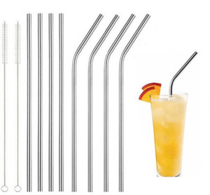 30oz 20oz Cups Stainless Steel Straw Durable Reusable Metal 10.5 inch Extra Long Drinking Straws For 30 20 oz Mugs by