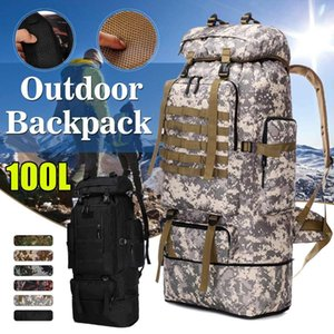 100L Outdoor Rucksacks Oxford Fabric Waterproof Tactical backpack Sports Camping Hiking Trekking Fishing Hunting Bags