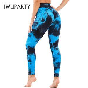 3D Women's Tie Dye Joga Pant Rainbow Printed High Waist Stretchy Fitness Running Gym Athletic Leggings Ladies Push Up Sportwear Q1123