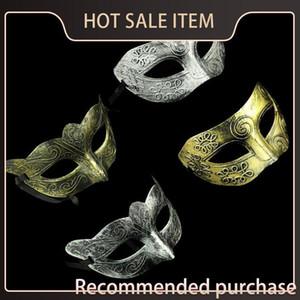 Vintage Vintage Grecorromano Gladiador Golden / Plata Mascarada Mascarada Disfraz Silver Masks Retro Mask Mens Halloween Carnival Fiesta IESQN