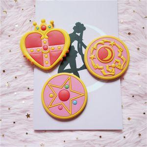 Anime Sailor Moon Cosplay Accessories Tsukino Usagi Women Girls Crescent Love Crown Portable Makeup Mirror Magic Wand Hand-held Q1214