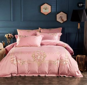 4 pieces bedding sets printed duvet cover set king size bed sheets1