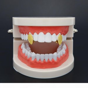 New Silver Gold Plated Water drop shape Hip Hop Single Tooth Grillz Cap Top Bottom Grill for Halloween Party Jewelry